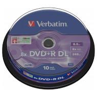DVD+R DL VERBATIM Matt Silver 8.5GB 8x 240min 10pcs/spindle (43666)