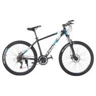 "Велосипед TRINX Majestic M136 17"" Matte Black/White Blue 26"""