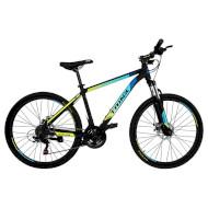 "Велосипед TRINX Majestic M100 17"" Matte Black/Blue/Yellow 26"""