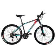 "Велосипед TRINX Majestic M100 17"" Matte Black/Red/Cyan 26"""