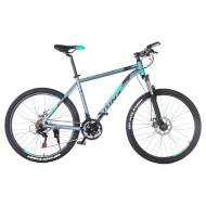 "Велосипед TRINX Majestic M136 17"" Matte Gray/Black Cyan 26"""