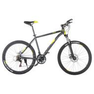 "Велосипед TRINX Majestic M136 17"" Matt Gray/Black Yellow 26"""