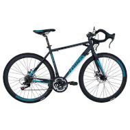 "Велосипед TRINX Tempo 1.1 Matt Gray/Blue 28"""