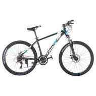"Велосипед TRINX Majestic M136 Matte Black/Blue/White 26"""