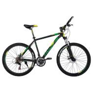 "Велосипед TRINX Majestic M136 Matte Black/Yellow/Green 26"""