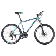 "Велосипед TRINX Majestic M136 Matte Gray/Cayan/Black 26"""