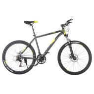 "Велосипед TRINX Majestic M136 Matte Gray/Yellow/Black 26"""