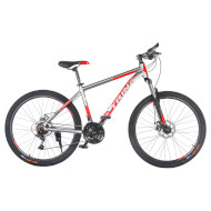 "Велосипед TRINX Majestic M116 17"" Matt Gray/Red/Black 26"""
