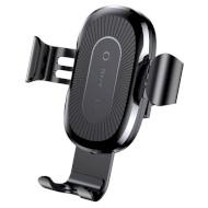 Автодержатель для смартфона с беспроводной зарядкой BASEUS Wireless Charger Gravity Car Mount Black (WXYL-01)