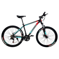 "Велосипед TRINX Majestic M100 19"" Matte Black/Red/Cyan 26"""