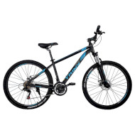 "Велосипед TRINX Majestic M136 Elite 21"" Matt Black/Blue/Gray 27.5"""