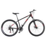 "Велосипед TRINX Majestic M136 Elite 21"" Matt Black/Gray/Red 27.5"""