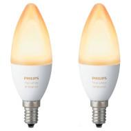 Набор умных ламп PHILIPS Hue White Ambience E14 6Вт 2200-6500K 2шт (929001301402)