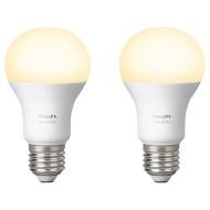 Набор умных ламп PHILIPS Hue White E27 9Вт 2700K 2шт (929001137062)