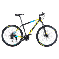 "Велосипед TRINX Majestic M116 Elite 21"" Matt Black/Yellow/Blue 27.5"""