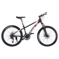 "Велосипед TRINX Majestic M134 Matt Black/Red/White 24"""
