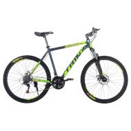 "Велосипед TRINX Majestic M116 Elite 21"" Matt Gray/Green/Yellow 27.5"""