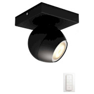 Умный светильник PHILIPS Hue Buckram Single Spotlight Black (50471/30/P7)