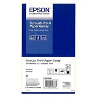 "Рулонная бумага для плоттеров EPSON SureLab Pro-S Paper Glossy (254 г/м²) 5"" 127mm x 65m 2-pack (C13S450061)"