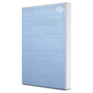 Портативный жёсткий диск SEAGATE Backup Plus Slim 2TB USB3.0 Light Blue (STHN2000402)