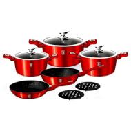 Набор посуды BERLINGER HAUS Metallic Burgundy Edition 10пр (BH-1222N)