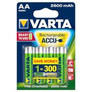 Аккумулятор VARTA Rechargeable Accu AA 2600mAh 4шт/уп (05716 101 404)