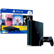 Игровая приставка SONY PlayStation 4 Slim Black + Detroit/Horizon Zero Dawn/The Last Of Us/PS+3Month