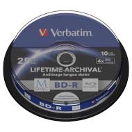BD-R SL VERBATIM MDisc 25GB 4x 10pcs/spindle (43825)