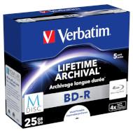 BD-R SL VERBATIM MDisc 25GB 4x 5pcs/jewel (43823)