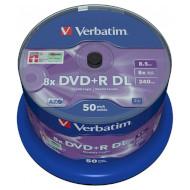 DVD+R DL VERBATIM Matt Silver 8.5GB 8x 240min 50pcs/spindle (43758)