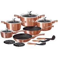 Набор посуды BERLINGER HAUS Metallic Line Rose Gold Edition 15пр (BH-1224N)