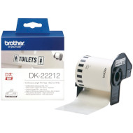 Лента BROTHER DK22212 62mm White on Black Laminated