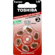 Батарейка для слухового аппарата TOSHIBA PR41 6шт