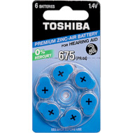 Батарейка для слухового апарату TOSHIBA PR44 6шт