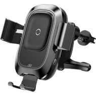 Автодержатель для смартфона с беспроводной зарядкой BASEUS Smart Vehicle Bracket Wireless Charger Black (WXZN-01)