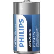 Батарейка PHILIPS Ultra Alkaline C 2шт/уп (LR14E2B/10)