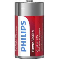 Батарейка PHILIPS Power Alkaline C 2шт/уп (LR14P2B/10)