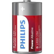 Батарейка PHILIPS Power Alkaline D 2шт/уп (LR20P2B/10)