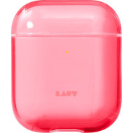 Чехол LAUT Crystal-X for AirPods Electric Coral (L_AP_CX_R)