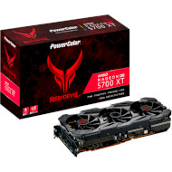Видеокарта POWERCOLOR Radeon RX 5700 XT 8GB GDDR6 256-bit Red Devil OC (AXRX 5700XT 8GBD6-3DHE/OC)