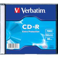 CD-R VERBATIM Extra Protection 700MB 52x 1pc/slim (43347)