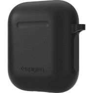 Чехол SPIGEN AirPods Silicone Case Black (066CS24808)