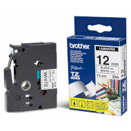 Лента BROTHER 12mm Black on White Laminated (TZE231)