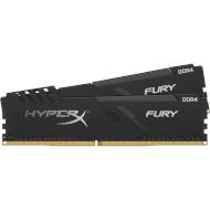 Модуль памяти HYPERX Fury Black DDR4 2400MHz 16GB Kit 2x8GB XMP (HX424C15FB3K2/16)