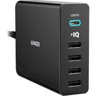 Сетевое зарядное устройство ANKER PowerPort+ 5 Black