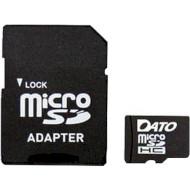Карта памяти DATO microSDHC 4GB Class 4 + SD-adapter (DSCL04/4GB-RA)