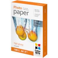 Фотопапір COLORWAY High Glossy A4 260г/м² 100л (PG260100A4)