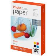 Фотопапір COLORWAY Matte A4 220г/м² 100л (PM220100A4)