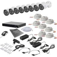Комплект видеонаблюдения TECSAR AHD 8Out 2Mega (8802)