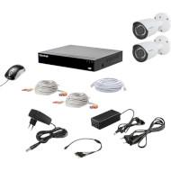 Комплект видеонаблюдения TECSAR QHD 2MP 2Cam (12015)